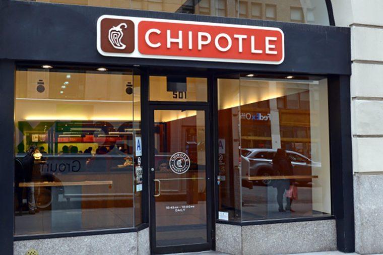 Chipotle Restaurant in Manhattan