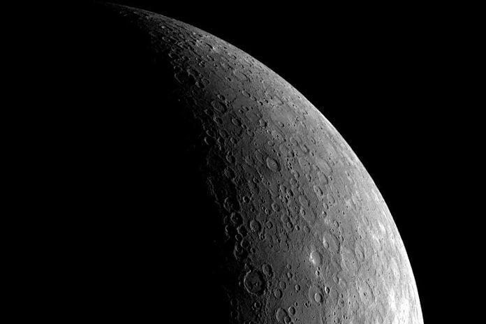 Crescent View Of Mercury