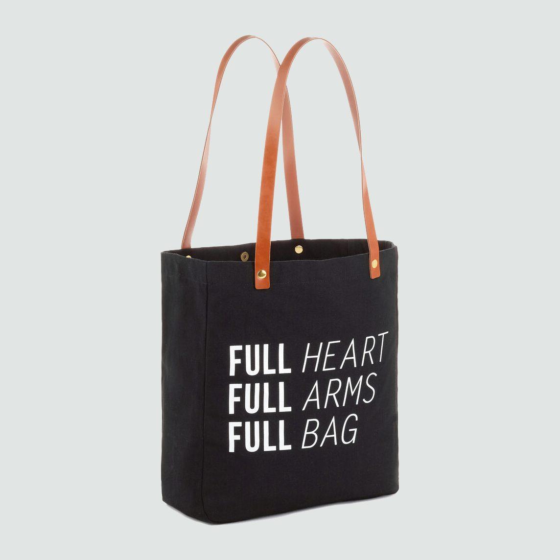 full arms tote bag