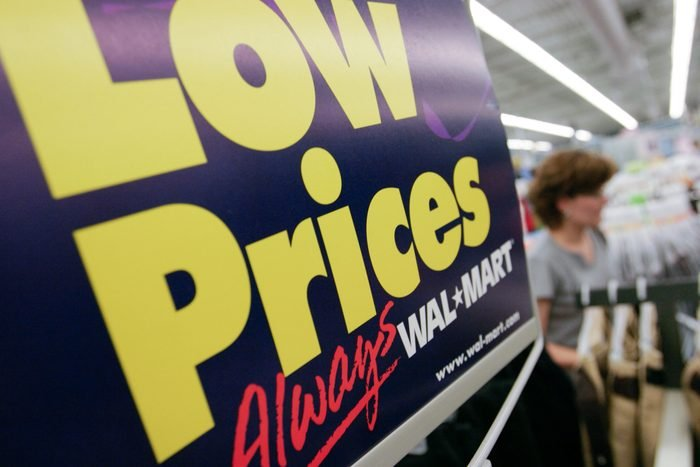 """walmart """"low prices"""" sign"""