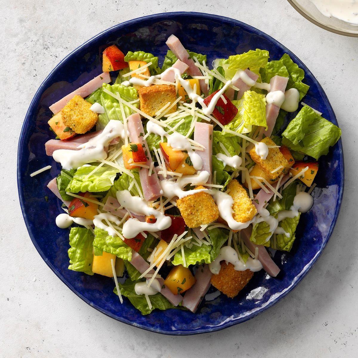 Ham caesar salad