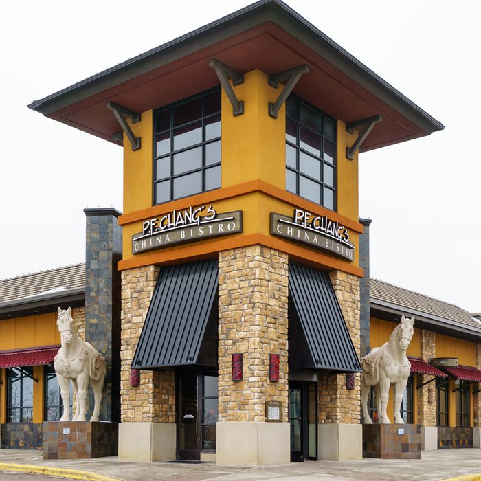 P.F. Chang China Bistro exterior. P. F. Chang's is an Asian-themed US casual dining restaurant chain.