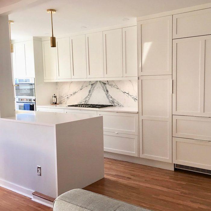 ikea kitchen with custom doors