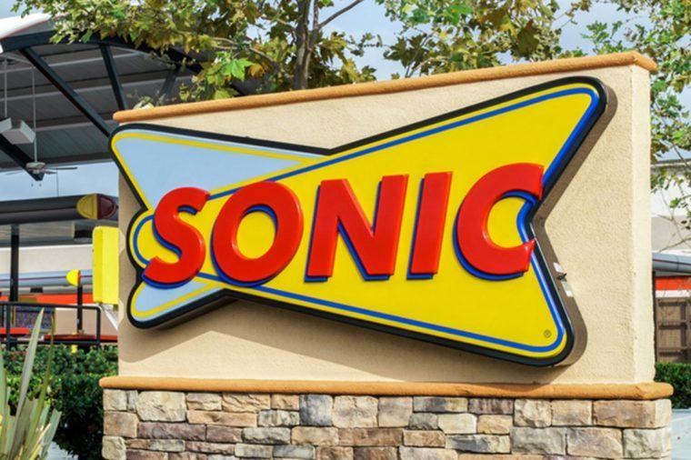 Sonic Drive-In Restaurant exterior.