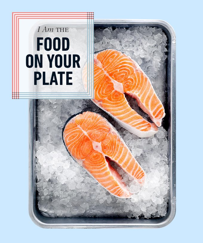 Salmon the food on your plate