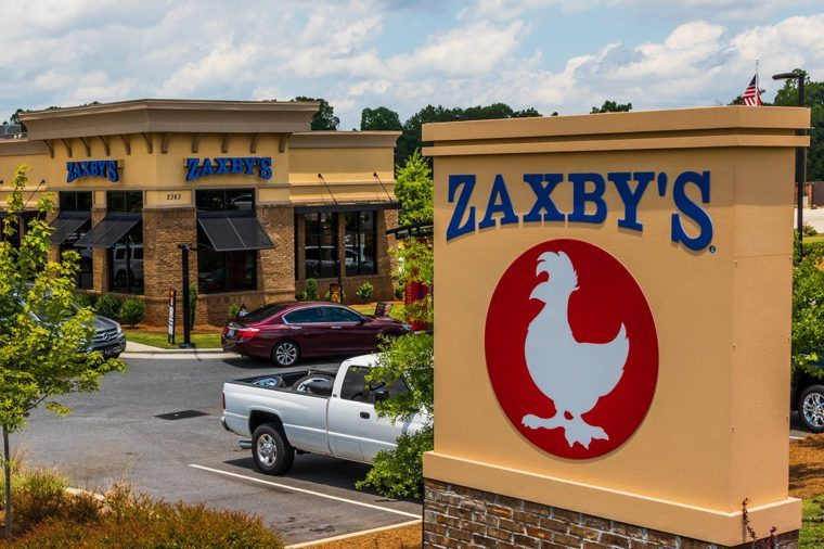 Zaxby's is a chain of fast food restaurants selling chicken wings, chicken fingers, sandwiches and salads in over 800 locations, primarily in the US south.