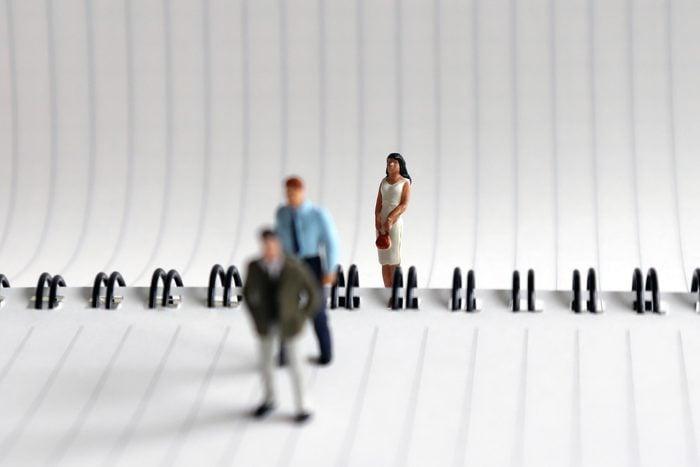 woman lonely miniature figure