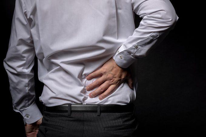 man back pain dark
