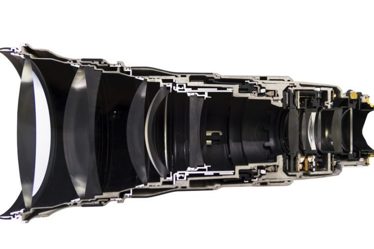 he total cross section of camera lens