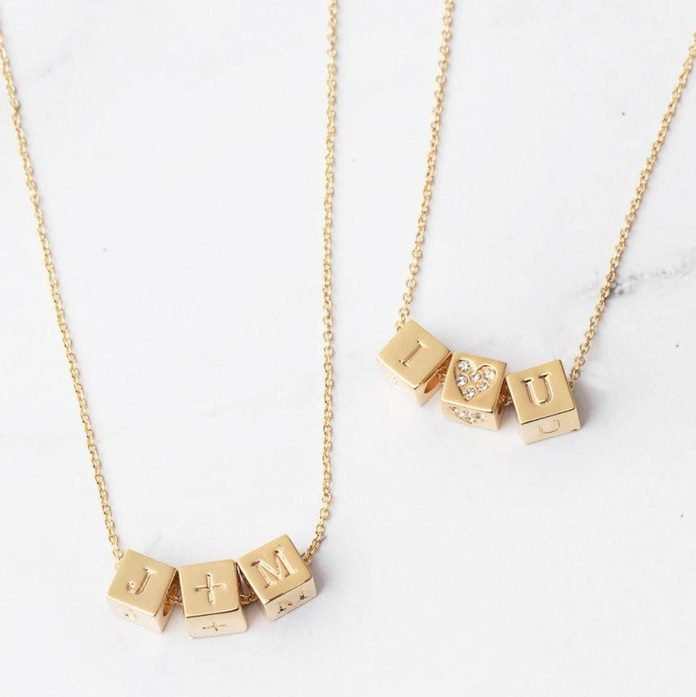 Capsul Custom Block Necklace