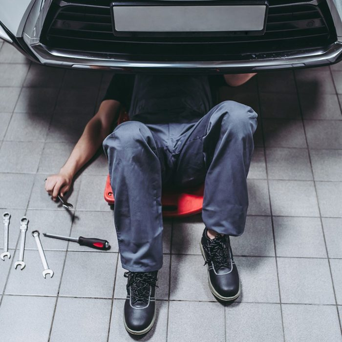 creeper_727567363_06 under a car mechanic automotive creeper