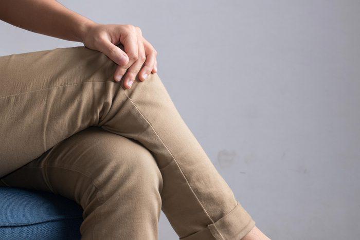 crossed legs sitting