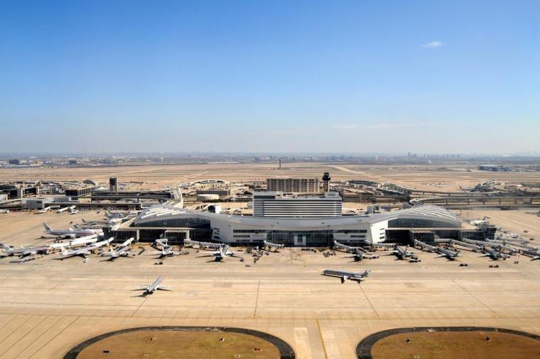 DALLAS FT WORTH - FEB 26: The Dallas Fort Worth airport is shown on Feb. 26, 2009 in Texas. The airport plans millions of dollars worth of incentives for new international routes.