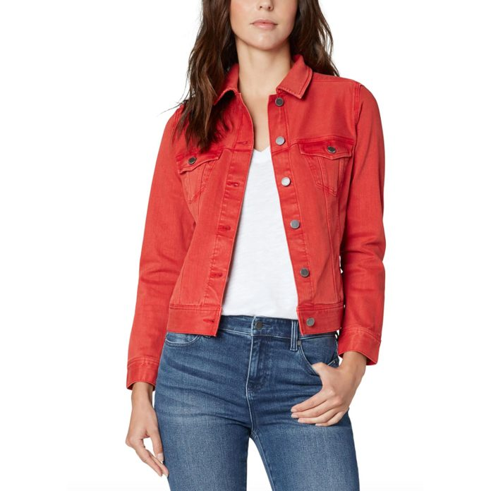 For the colorful personality: Liverpool Classic Denim Jacket