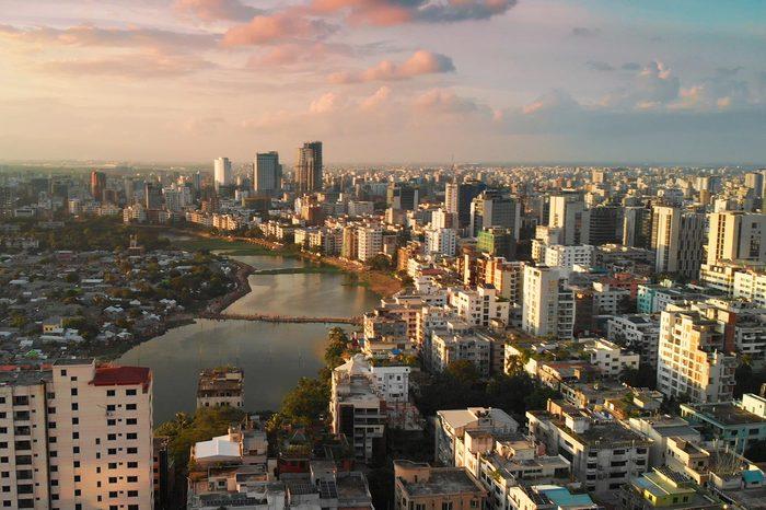 Dhaka skyline from a bird's eye view