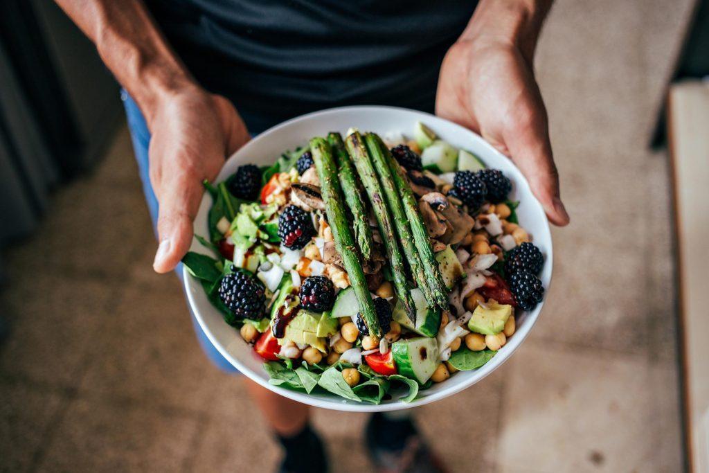 man diet bowl food healthy