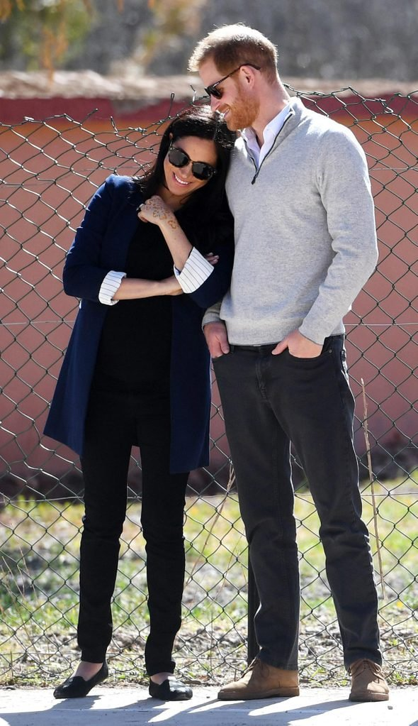 Duke and Duchess of Sussex visit Morocco, Asni - 24 Feb 2019
