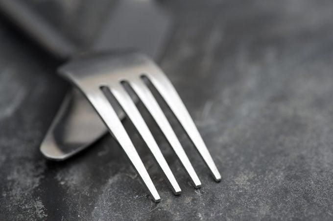 fork knife silverware