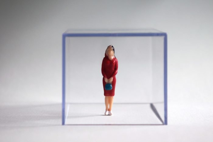 ptsd woman glass walls