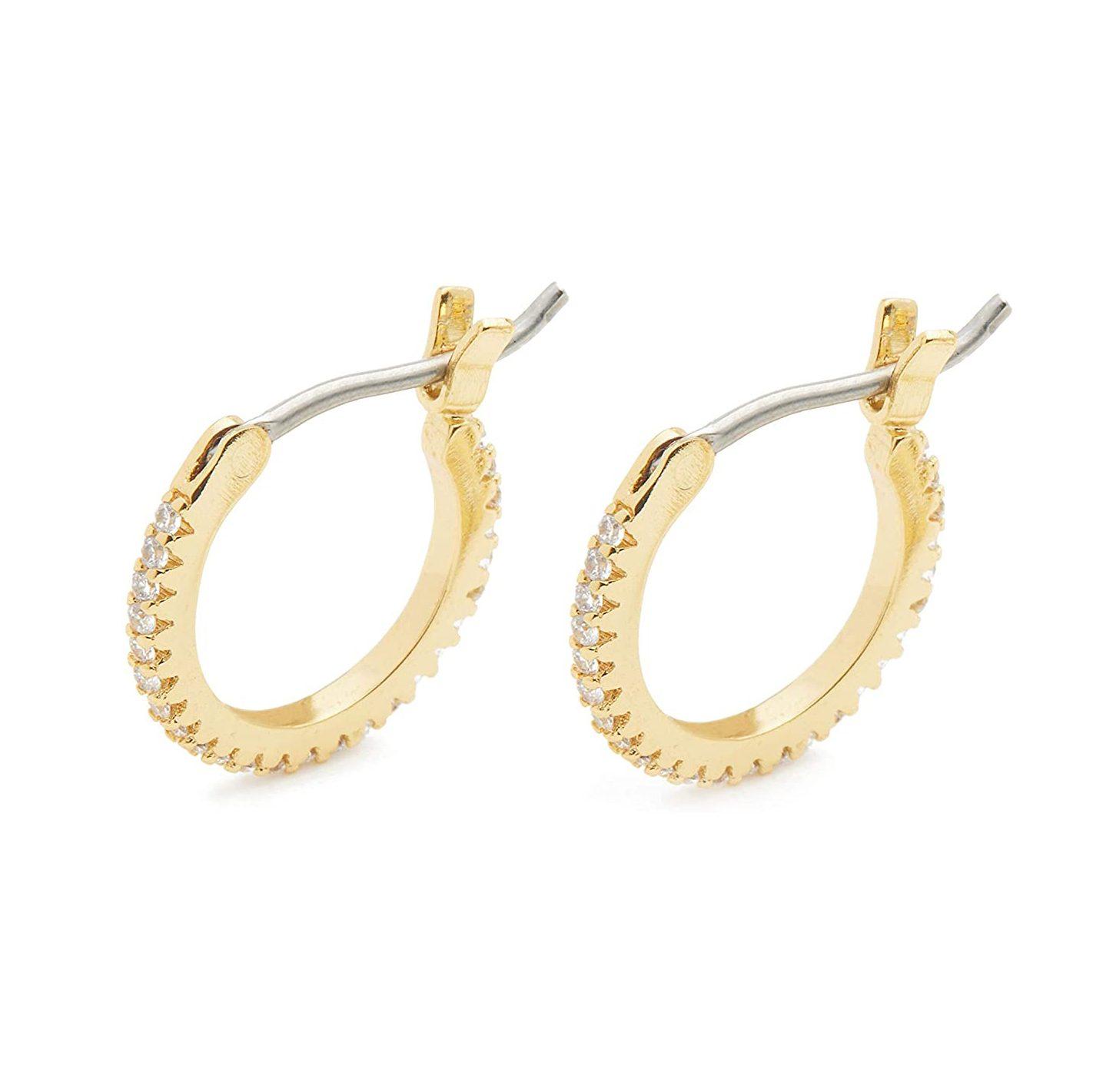 Gorjana Madison Huggies earrings gold hoops