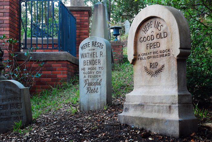 headstones haunted mansion