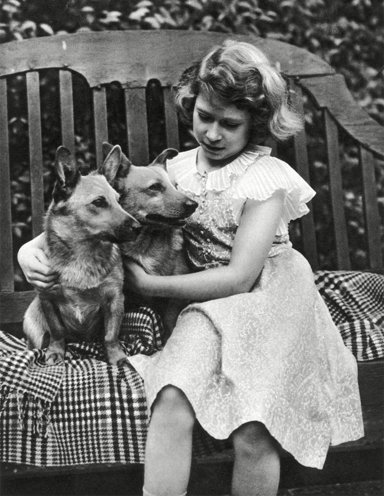 Historical Collection 148 Princess Elizabeth of York (now Queen Elizabeth Ii) Taken at the York's London Residence 145 Piccadilly in 1936 with Two of Her Corgis 1936