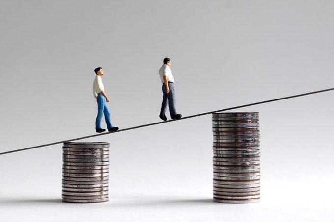 mini figures money coins increase