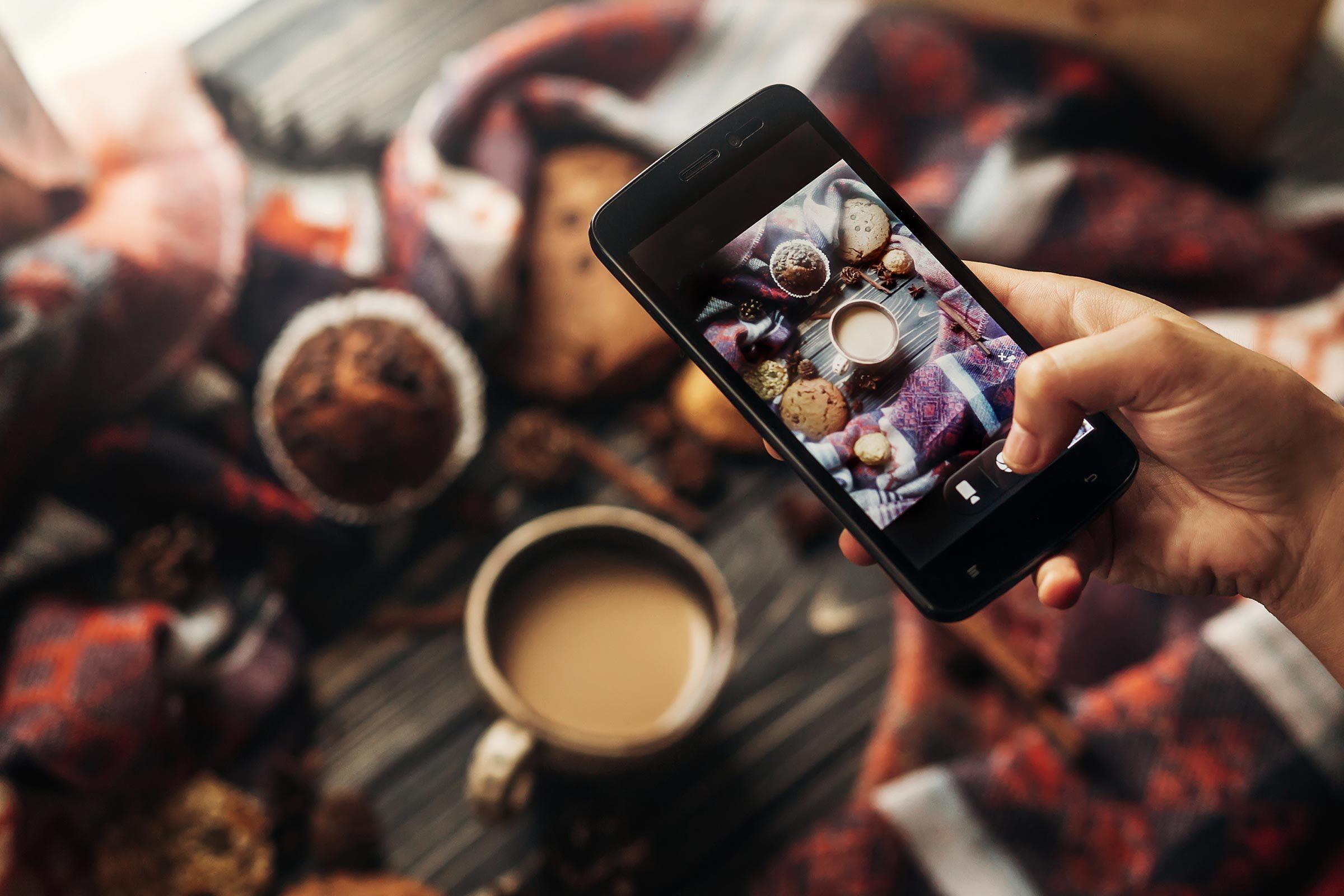 phone photo food