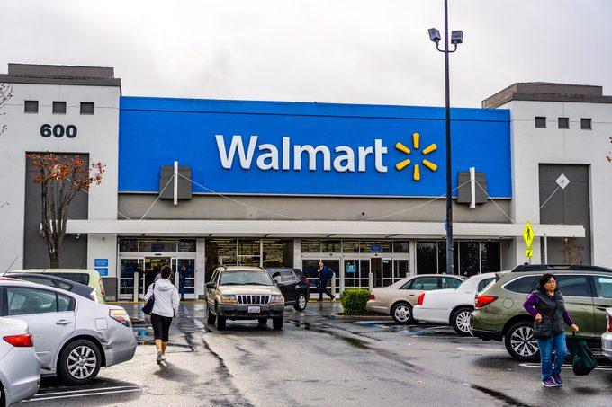 January 8, 2019 Mountain View / CA/ USA - Walmart store entrance, south San Francisco bay area