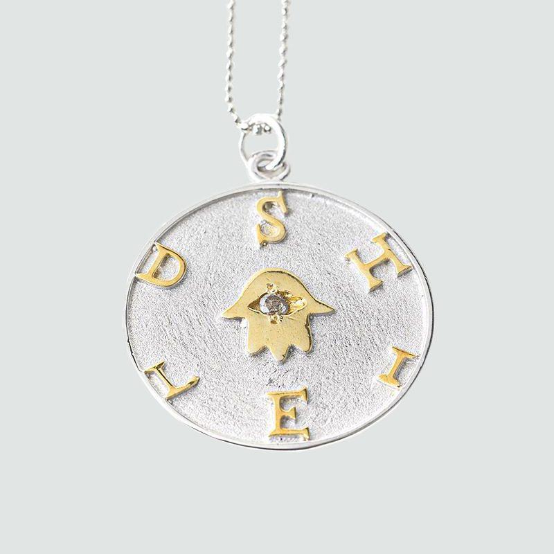 shelby shield necklace