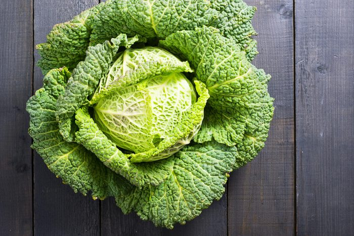 cabbage lettuce overhead leaves