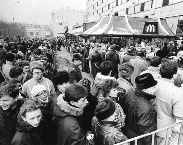 MCDONALD'S OPENS IN MOSCOW, MOSCOW, Russian Federation