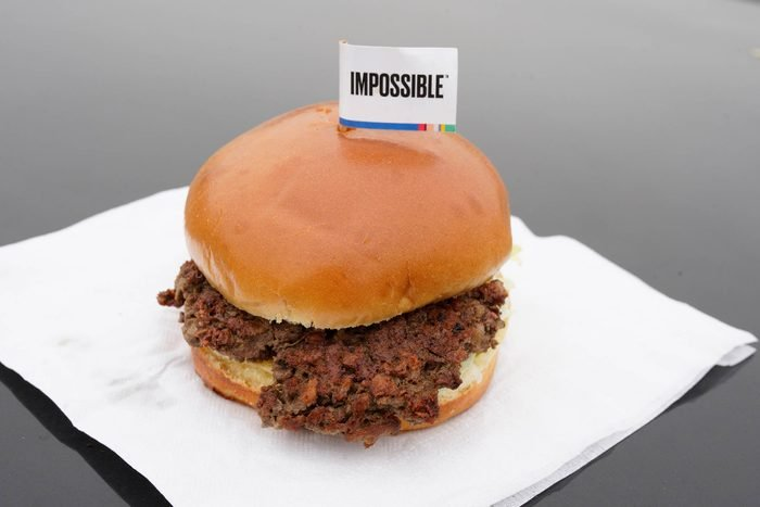 The Impossible Burger, a plant-based burger