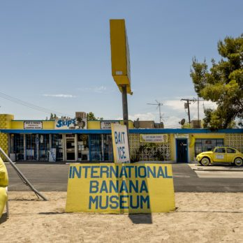 Mecca, California - August 11 2014: International Banana Museum is the world largest collection devoted to any one fruit with over 20,000 banana related items.
