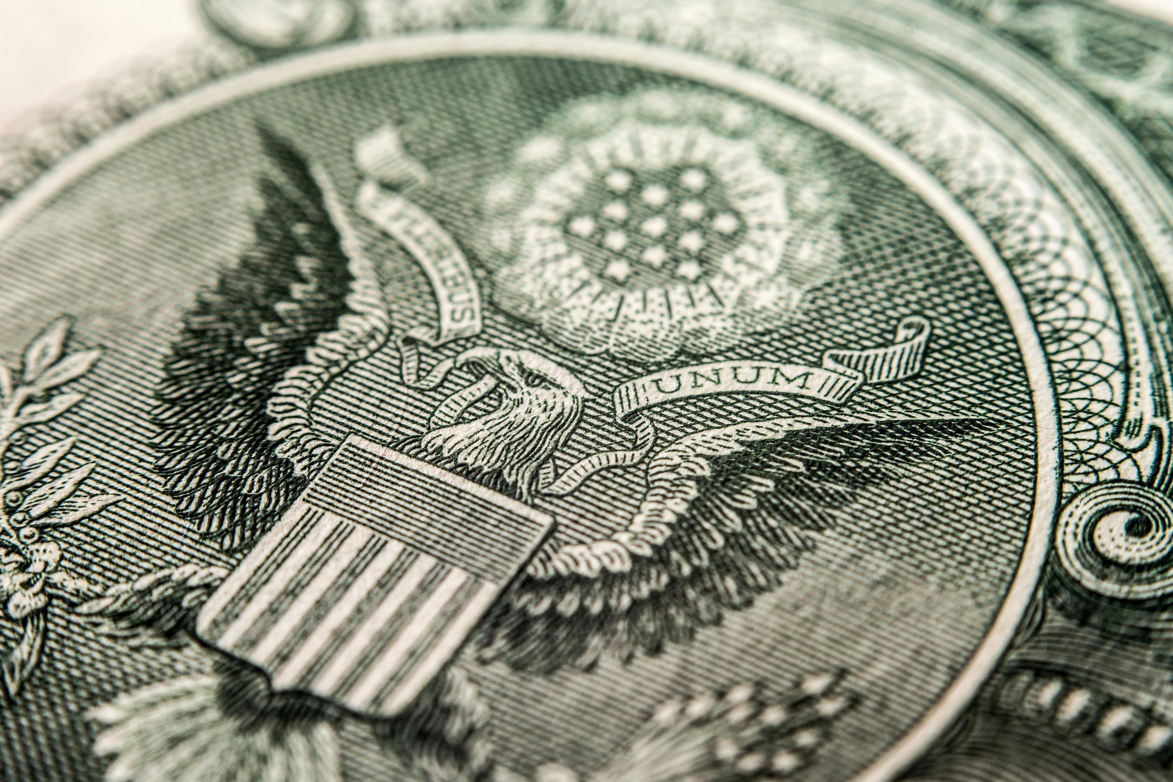 close up money bill