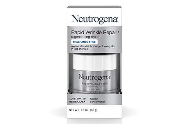 Neutrogena Rapid Wrinkle Repair Hyaluronic Acid Retinol Cream, Anti Wrinkle Cream, Face Moisturizer, Neck Cream & Dark Spot Remover for Face - Day & Night Cream with Hyaluronic Acid & Retinol, 1.7 oz