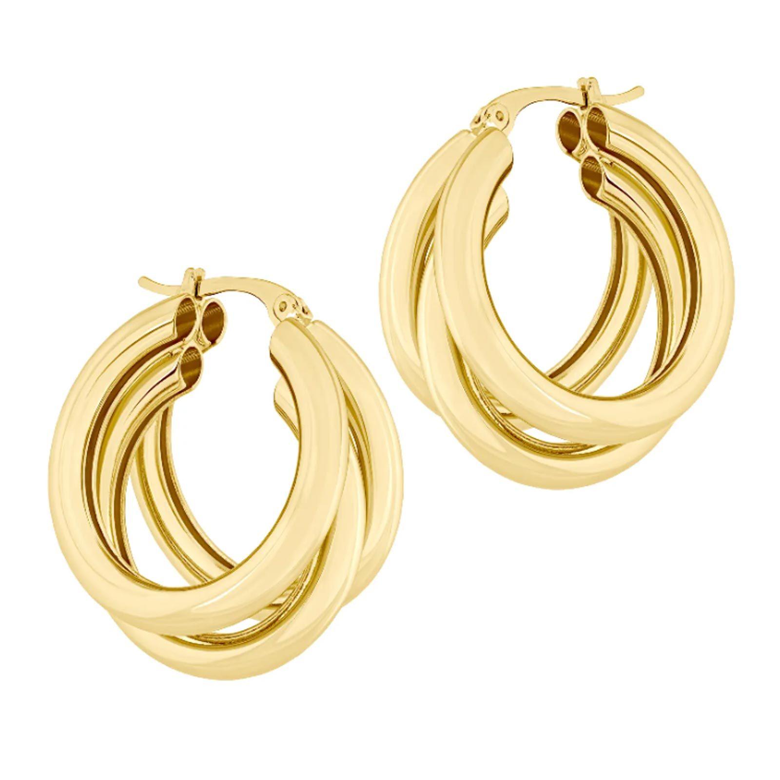 For the golden soul: Electric Picks Nirvana Hoop Earrings