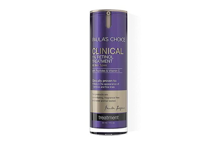 Paula's Choice CLINICAL 1% Retinol Treatment with Peptides & Vitamin C, 1 Ounce Can Facial Treatment for Deep Wrinkles, Normal-Oily Skin