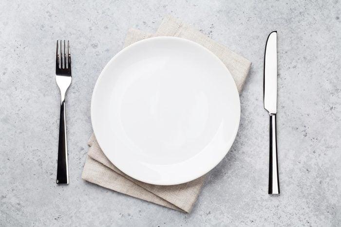 empty plate utensils