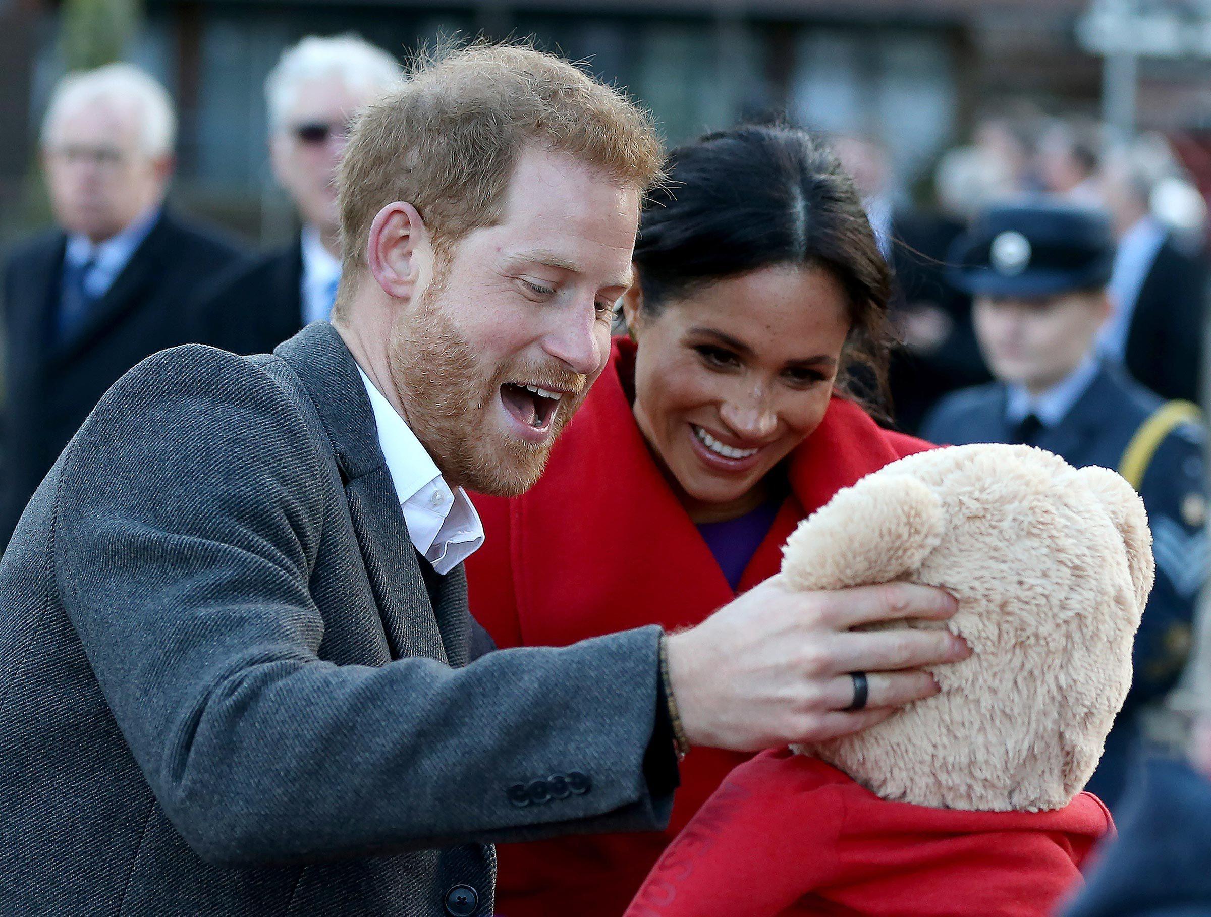 Prince Harry and Duchess of Sussex visit Birkenhead, United Kingdom - 14 Jan 2019