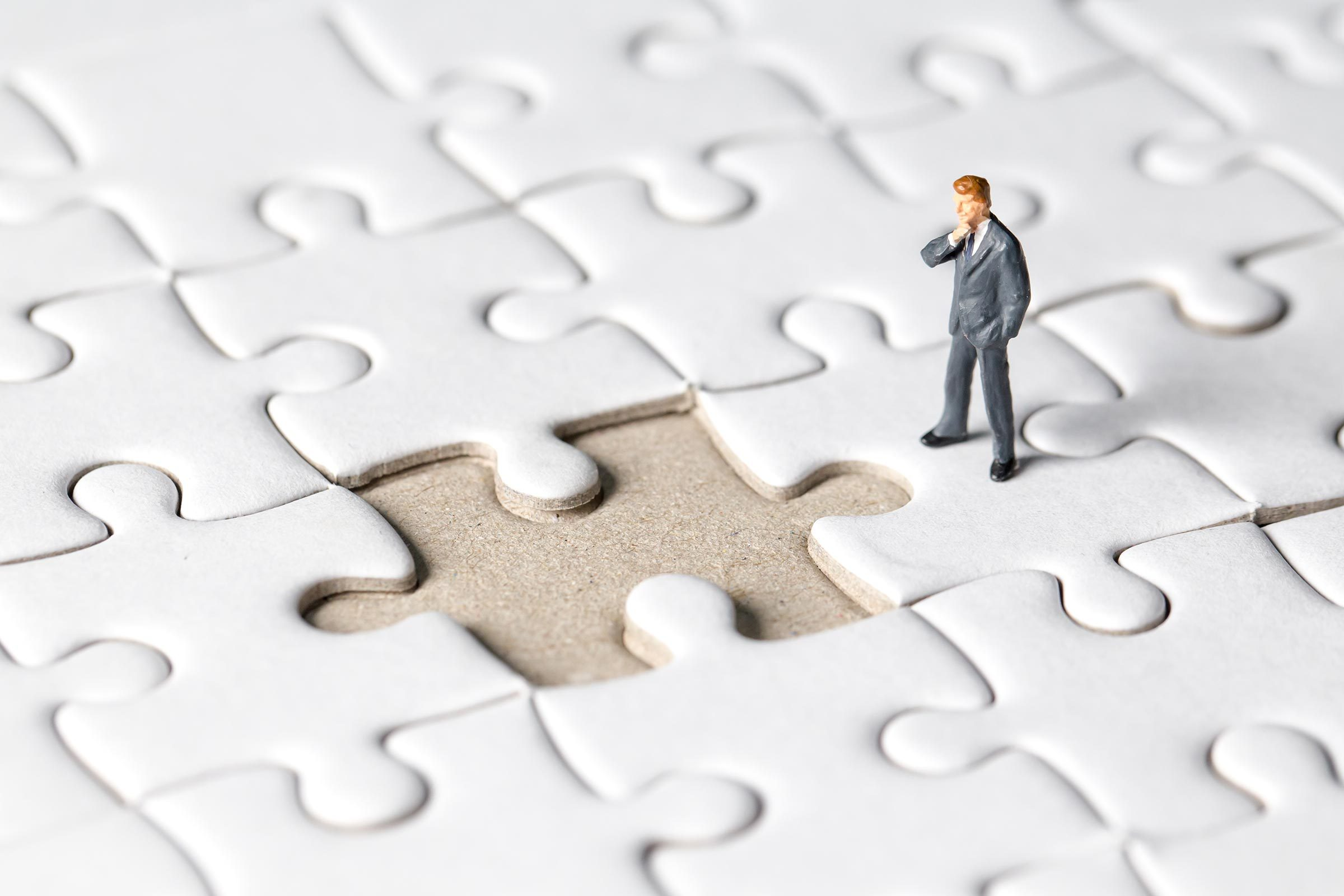 miniature figure puzzle piece