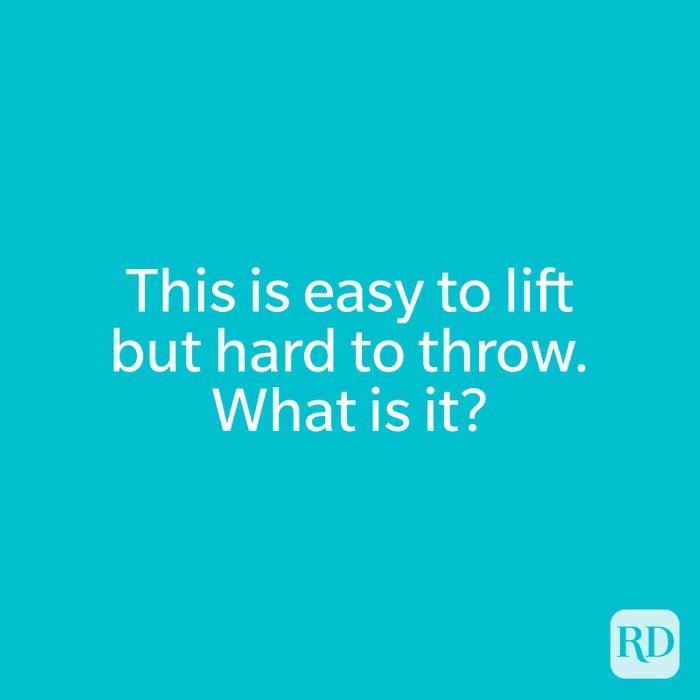 This is easy to lift but hard to throw.