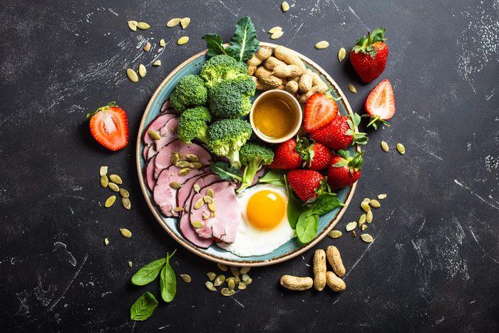 healthy plate food