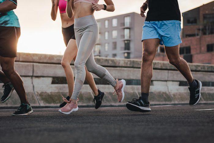 group jogging running