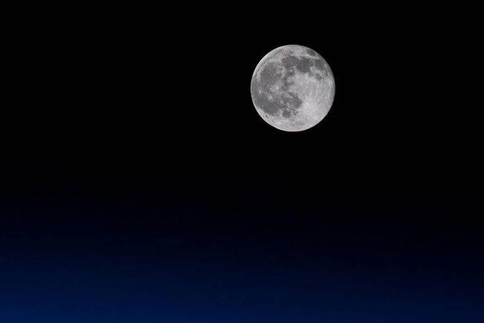 Seeing Our Moon From The Space Station