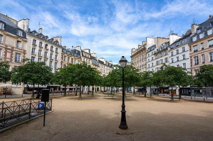 Dauphine square (place) in Paris, France