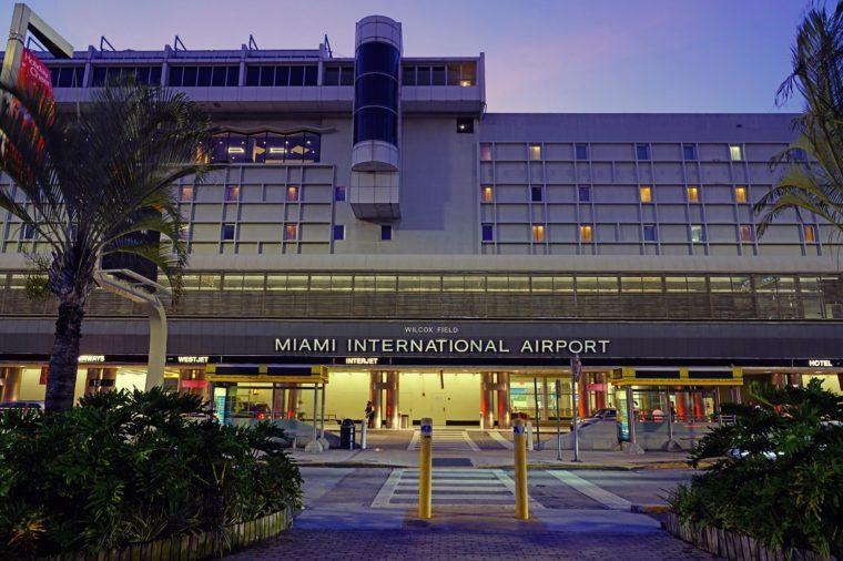 MIAMI, FL -3 JAN 2019- View of the Miami International Airport (MIA), formerly Wilcox Field.