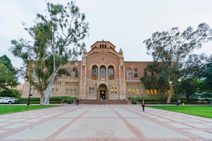 Los Angeles, APR 4: Exterior view of the Powell Library on APR 4, 2019 at Los Angeles, California