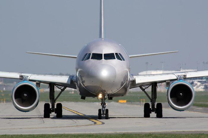 Eye to eye detail with silver plane