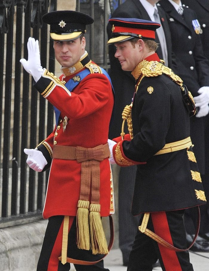 Marriage Of Hrh Prince William To Catherine Middleton At Westminster Abbey London. Pic Shows: Prince William Arrives With Prince Harry. The Royal Wedding Of Prince William Of Wales To Catherine Middleton (kate Middleton) On 29th April 2011. Now Duke